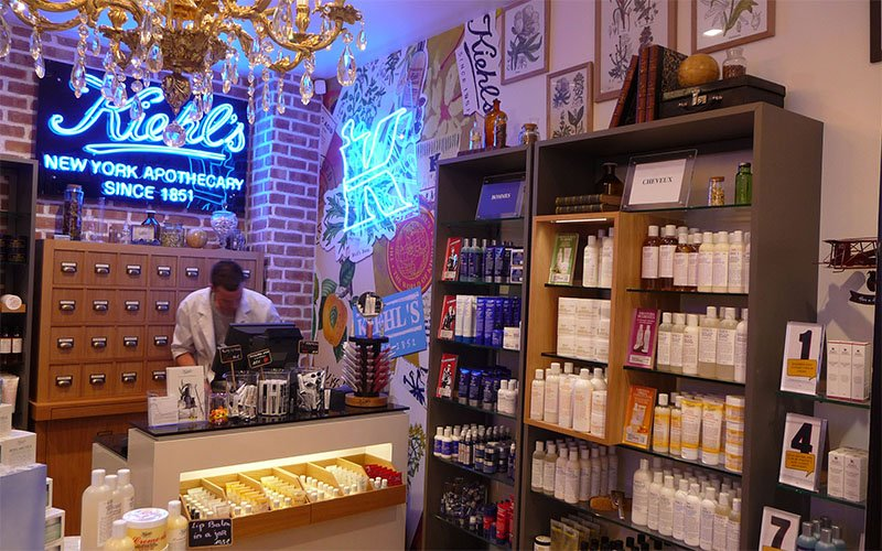 Agenement Magasin cosmetique Kiehl's