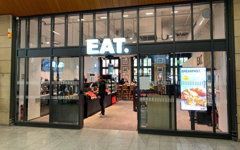 Enseigne et façade Restaurant EAT