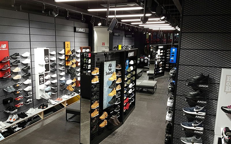 Agencement magasin JD Sports