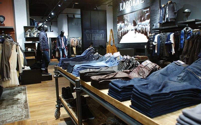 Agencement magasin vêtement Kaporal