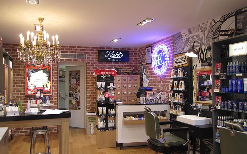 Agencement magasin salon Kiehl's