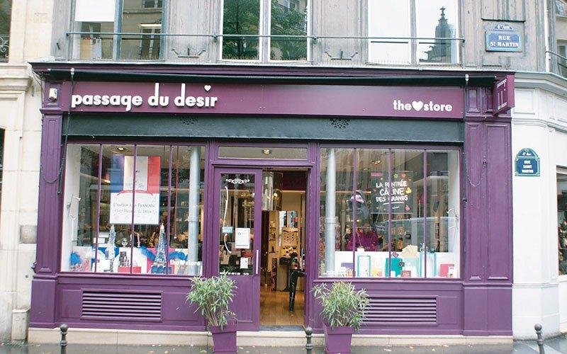 Enseigne magasin Passage du desir Paris