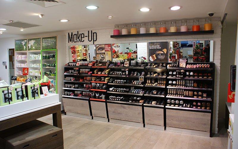 Aménagement boutique cosmétique The body Shop